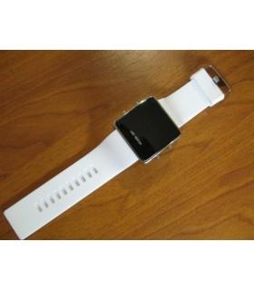 Лед часовник адидас - бял хром