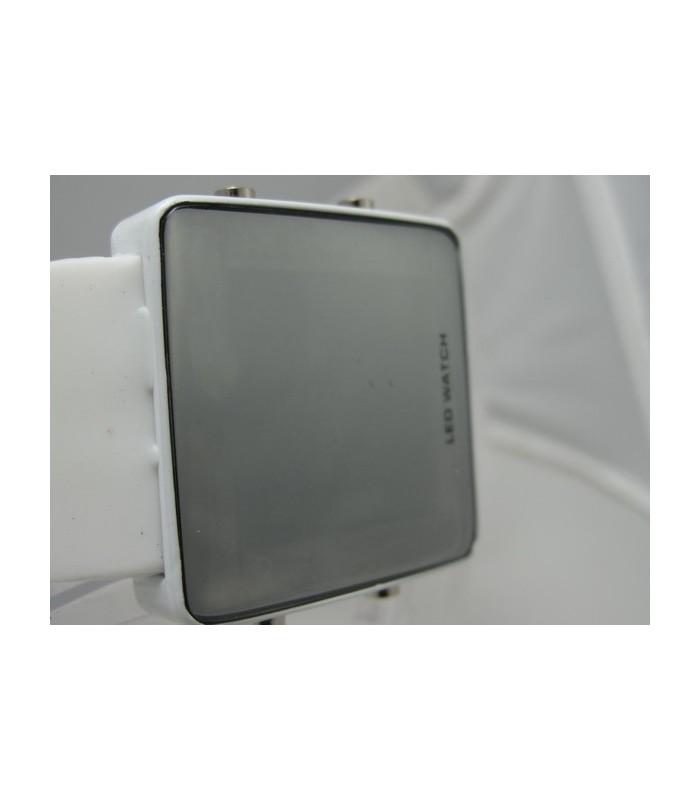 LED часовник адидас - бял огледален