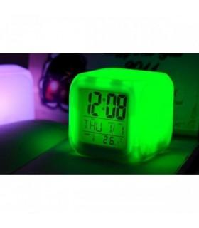 Настолен антистрес LED часовник 7 цвява
