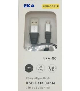 1м. USB към MicroUSB кабел EKA-80