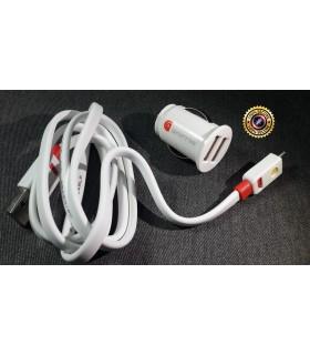 2в1 Адаптер за запалка с 2бр. USB + Кабел за зареждане