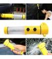 4в1 Фенер, Сигнална светлина, Нож за предпазния колан и Чук