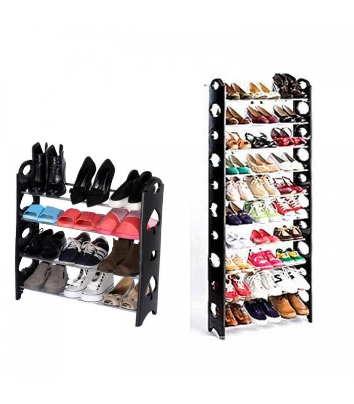 Сглобяема етажерка за обувки за до 50 чифта обувки
