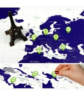 Светеща Световна карта за изтриване Travel Life