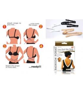 Комплект 3бр. удълители за сутиен за гол гръб