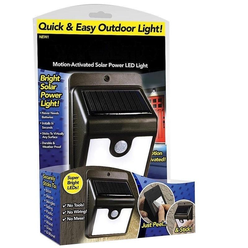 LED лампа със соларен панел и датчик за движение