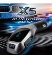 Стилен Bluetooth трансмитер за автомобил с високоговорител X5