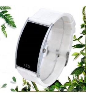 Led часовник nike slim - бял