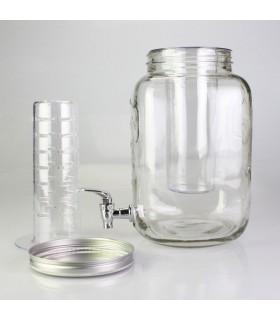 Стъклен буркан с канелка за напитки
