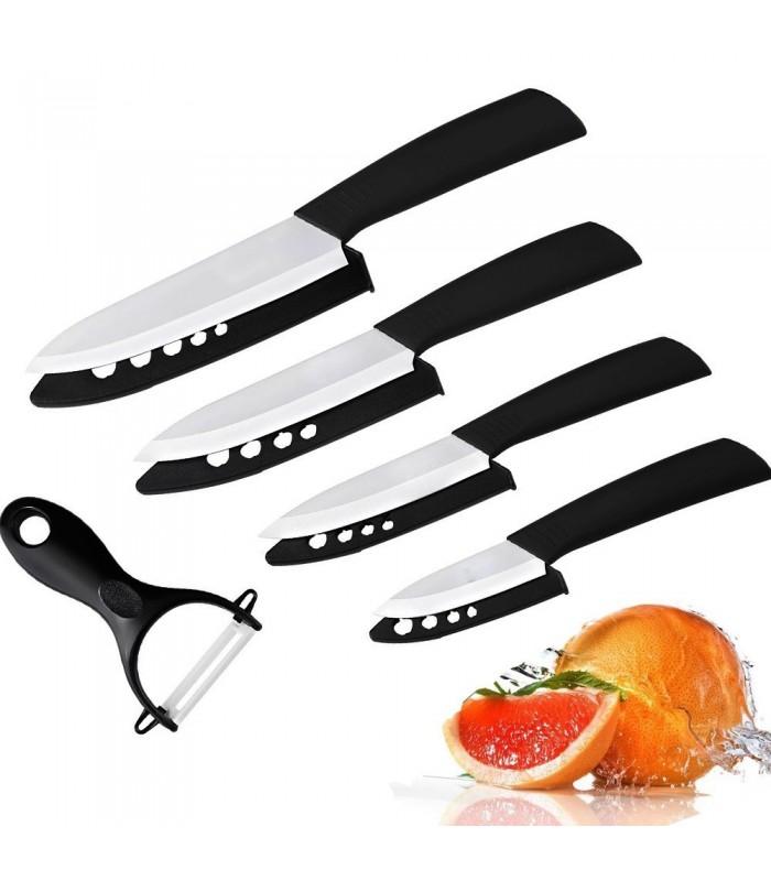 4бр. керамични ножове + керамична белачка