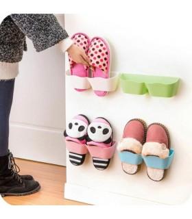 Поставка за обувки или чехли за стена