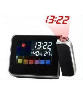 Прожекционен часовник с влагомер и термометър