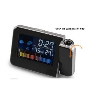 Прожекционен часовник на час и температура