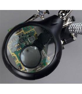 Настолна работна лампа с лупа - трета ръка