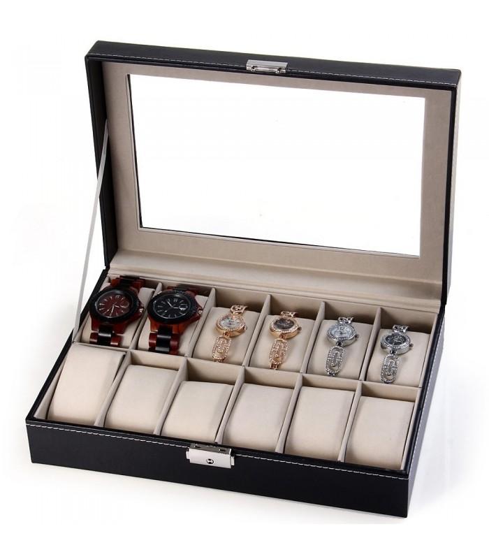 Луксозна кутия за 12бр. часовници