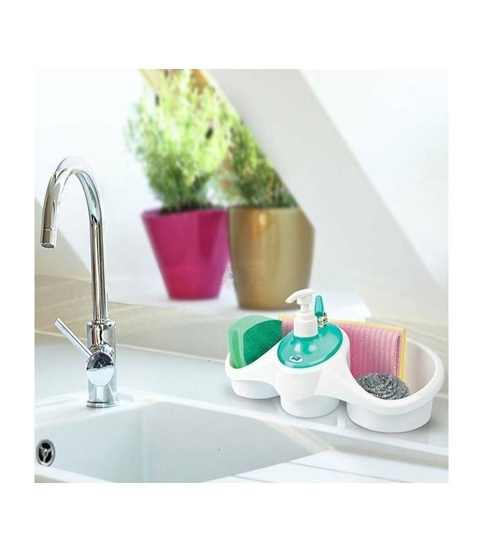Органайзер за мивка с вграден диспенсър