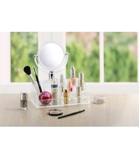 Органайзер за козметика с огледало