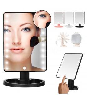 Настолно LED огледало за гримиране с осветление - LARGE LED MIRROR
