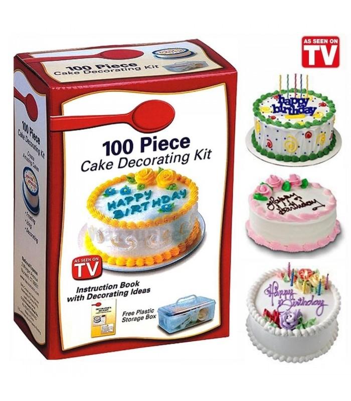 Комплект от 100 части за декорация на сладкиши