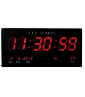 Дигитален стенен часовник с термометър и календар