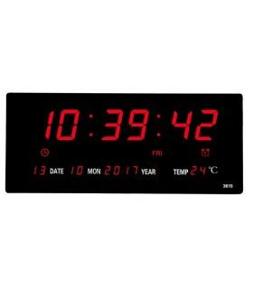 Голям електронен часовник за стена JH3615