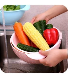 Купа за миене и отцеждане на плодове и зеленчуци