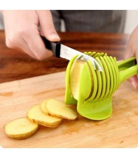 Уред за рязане перфектно нарязани домати, плодове или зеленцучци