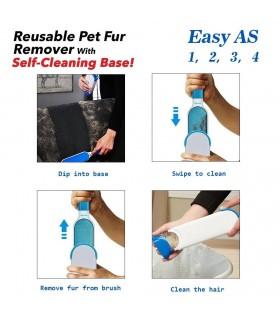 Уред за премахване на косми и контейнер за почистване Hurricane Fur Wizard