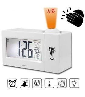 Часовник с проекция и активиране чрез пляскане на ръце
