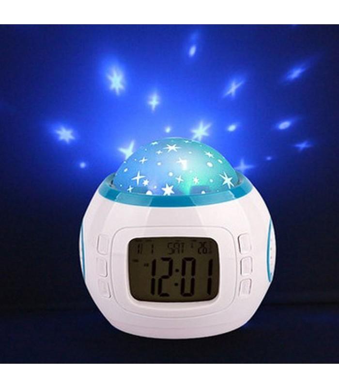 Музикален часовник с прожектор за звезди
