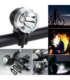 2 в 1 Фар за велосипед и челник XM-L Т6 1200 лумена