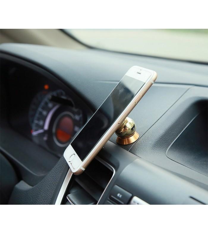 Златиста магнитна стойка за телефон за табло на кола