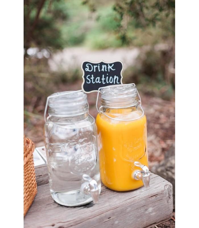 Диспенсър за напитки – стъклен буркан с канелка