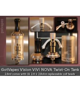 Универсален картомайзер VIVA NOVA 2.8мл. 2.4Ω за всички EGO цигари