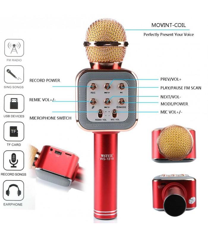 Караоке блутут микрофон модел 1818 - 1