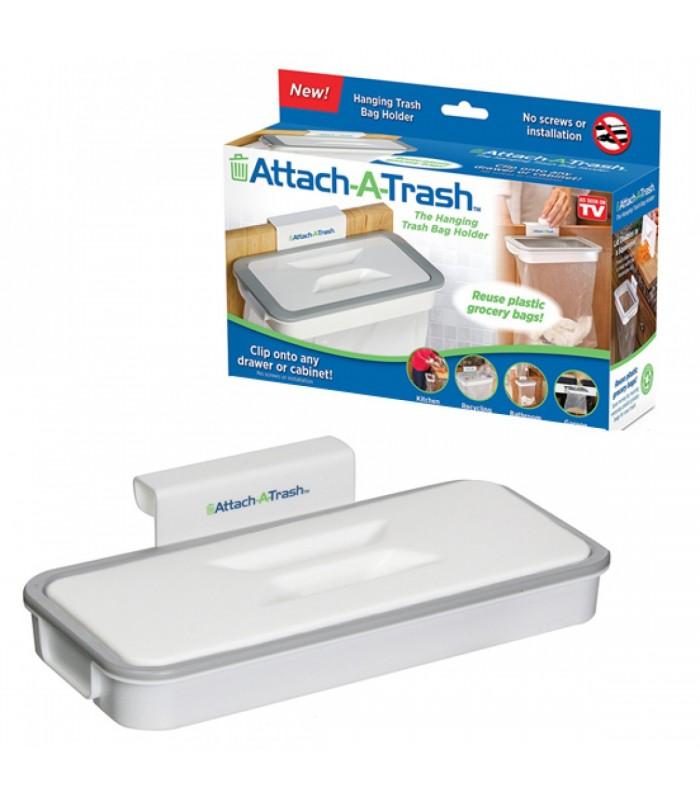 Поставка за торби за боклук с капак Attach-A-Trash - 4
