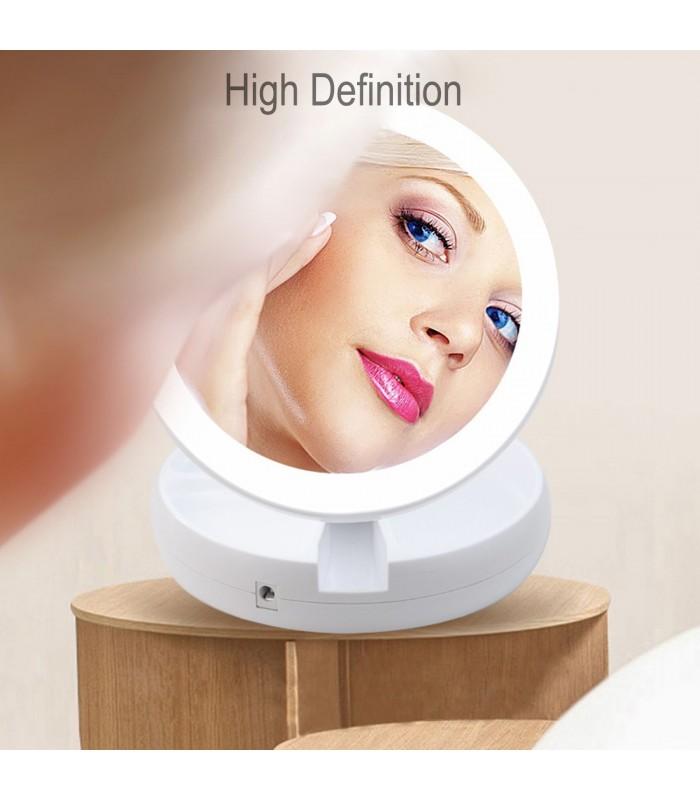 Сгъваемо огледало с LED светлини - 7