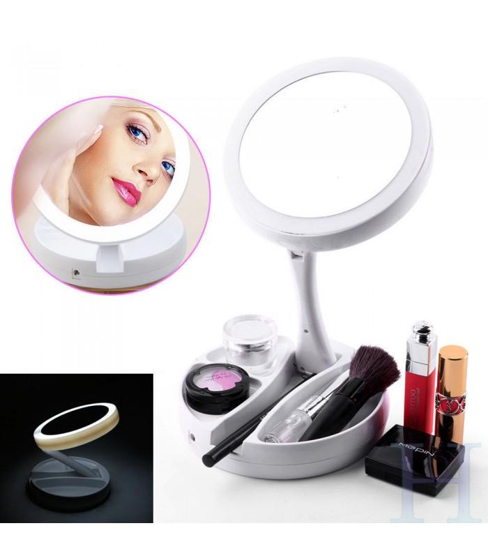 Сгъваемо огледало с LED светлини - 9