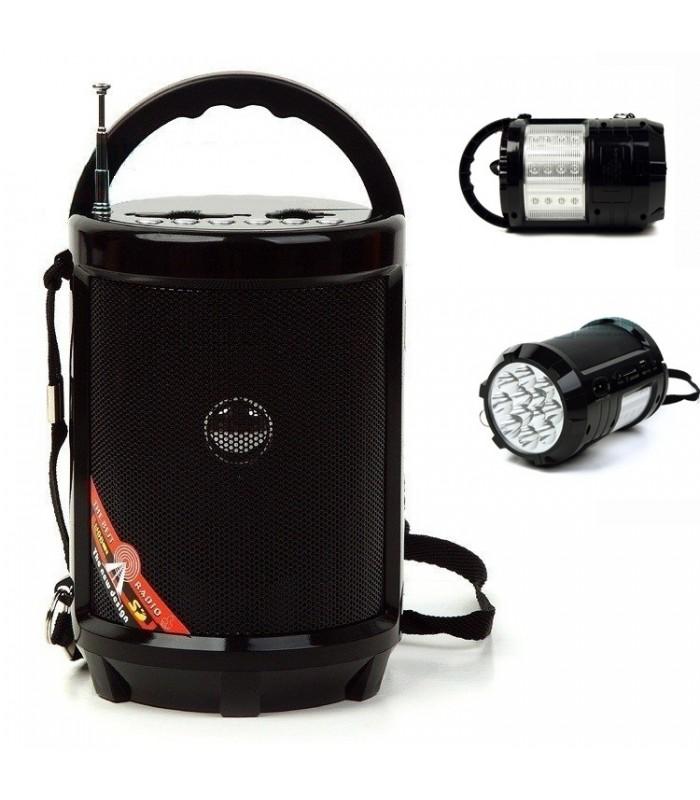 Портативно радио с USB флашка, фенерче и акумулаторна батерия - 1