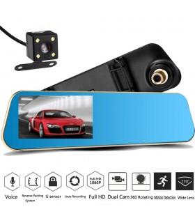 Комплект 1080P Full HD видеорегистратор в огледало и камера за задно виждане