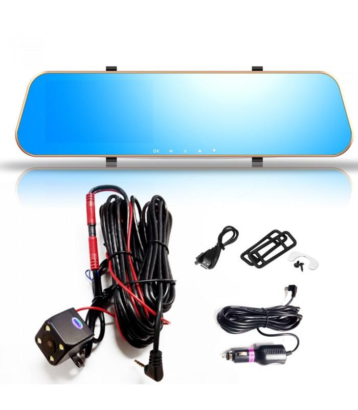 Комплект 1080P Full HD видеорегистратор в огледало и камера за задно виждане - 8