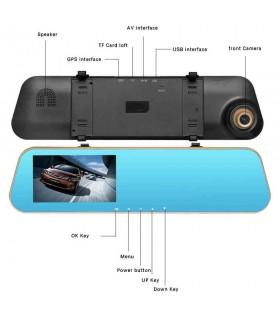 Комплект 1080P Full HD видеорегистратор в огледало и камера за задно виждане - 4