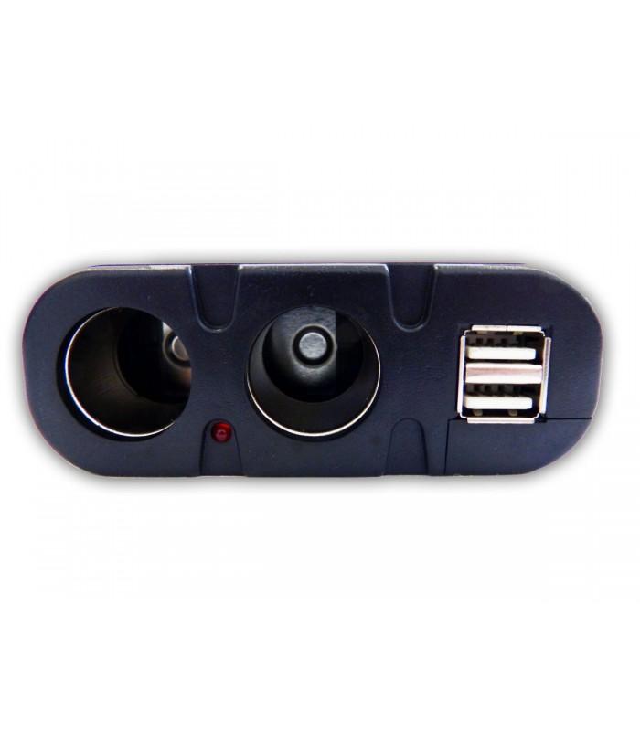 Двоен сплитер за запалка с 2бр. USB - модел 033 - 8