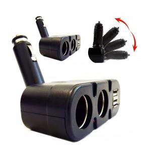 Двоен сплитер за запалка с 2бр. USB - модел 033 - 3