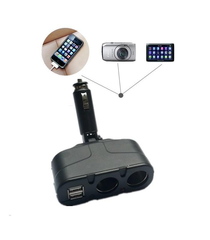 Двоен сплитер за запалка с 2бр. USB - модел 033 - 1