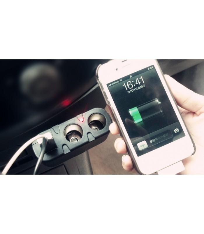 Двоен сплитер за запалка с 2бр. USB - модел 033 - 6