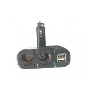 Двоен сплитер за запалка с 2бр. USB - модел 033 - 4