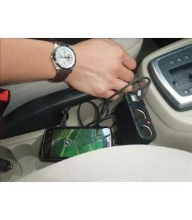 Двоен сплитер за запалка с 2бр. USB - модел 033 - 7