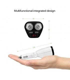 Волтметър в разклонител за запалка с 2 гнезда и 2бр. USB - 7