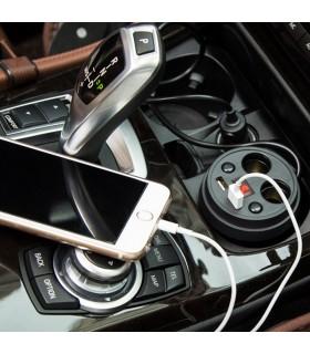 3 в 1 волтметър, разклонител и зарядно за кола в чашка - 3